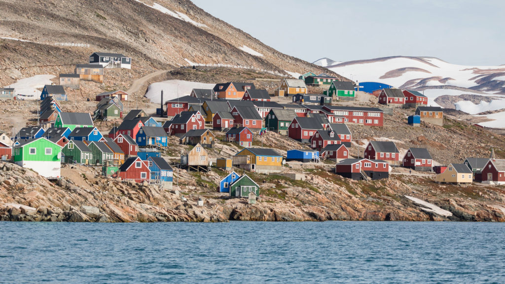 Colorful Houses, Ittoqqortoormiit, Scoresby Sound Fjords, Eastern Greenland