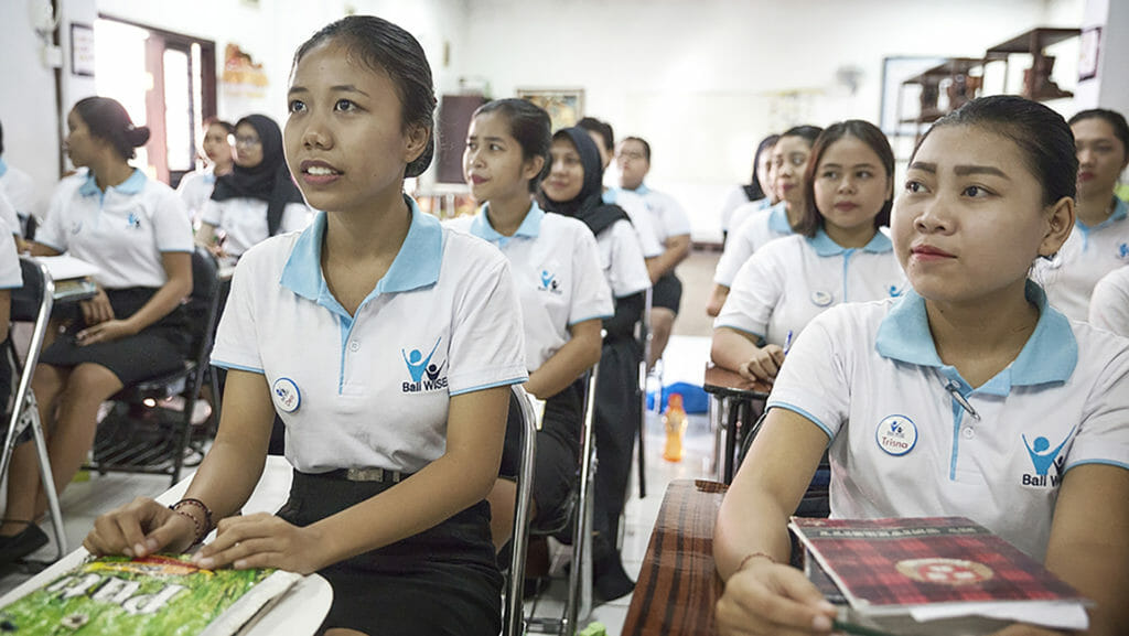 Bali WISE foundation girls at school
