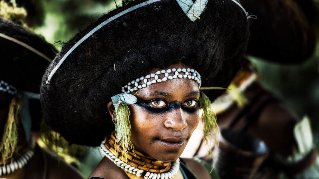 Young girl in Papua New Guinea