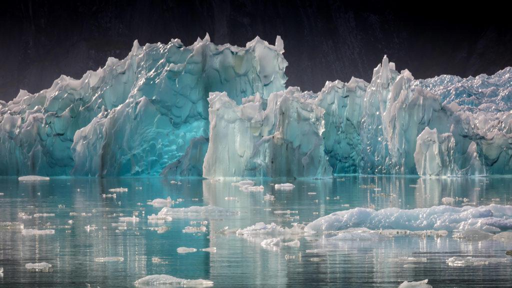 floating ice in Alaska