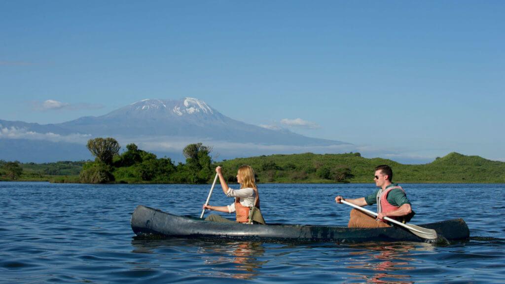 Canoeing, Arusha National Park, Tanzania