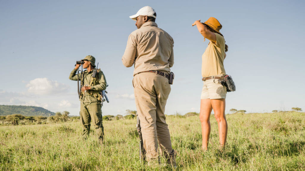Walking safari, Serengeti, Tanzania