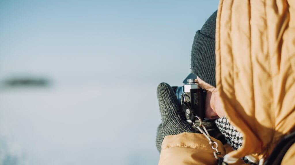 Photographer with Camera, Antarctica