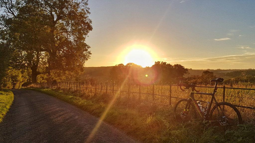 Bike and sunset