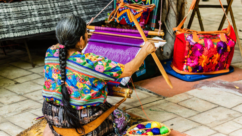 Traditional weaving in Guatemala,