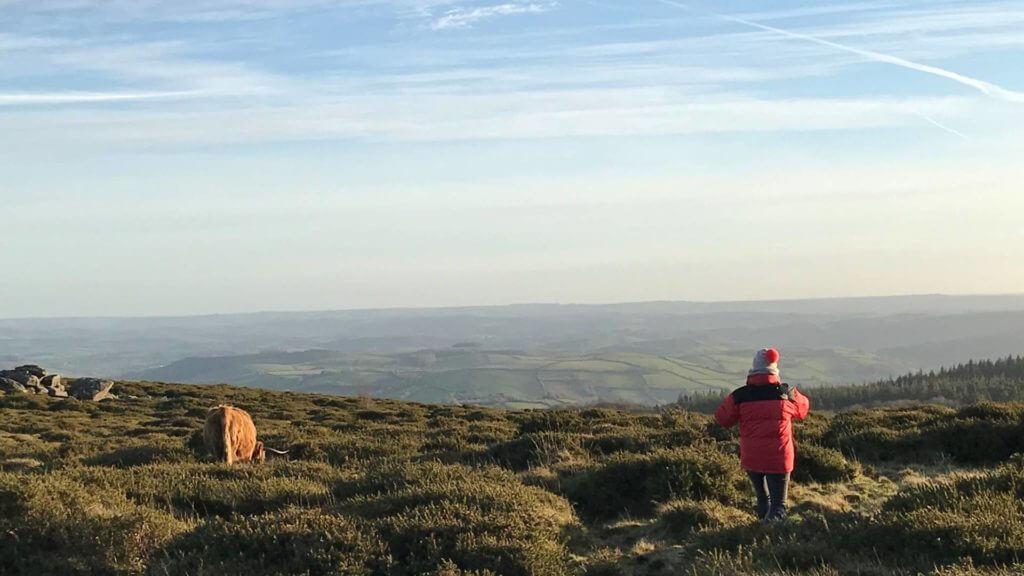 Walking on Dartmoor, Devon, England